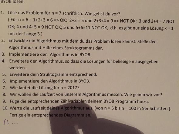 Die anderen Aufgaben sind unwichtig. Danke👍 - (Mathe, Informatik, Algorithmus)