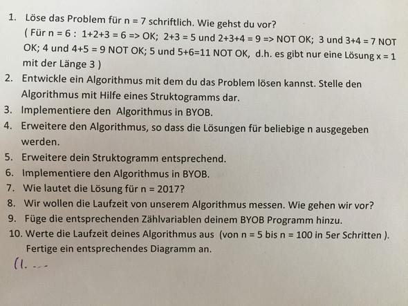 Ausser Aufgabe 1,2 ist alles irrelevant - (Mathe, Informatik)