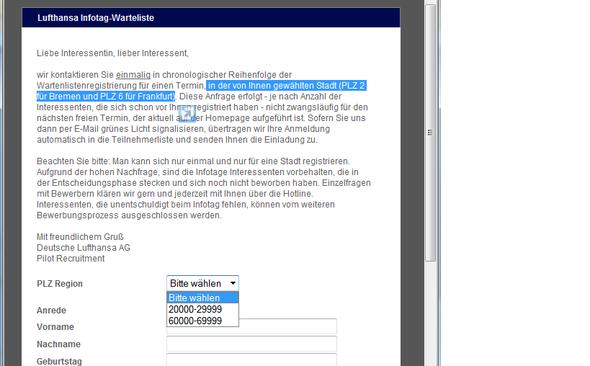 infotage - Lufthansa Bewerbung Pilot