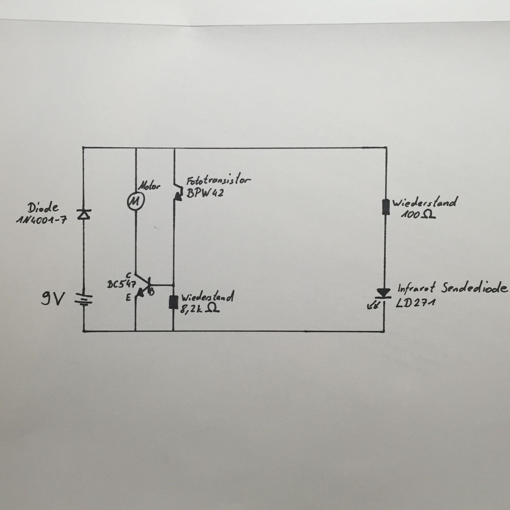 infrarot lichtschranke schulprojekt funktioniert nicht. Black Bedroom Furniture Sets. Home Design Ideas