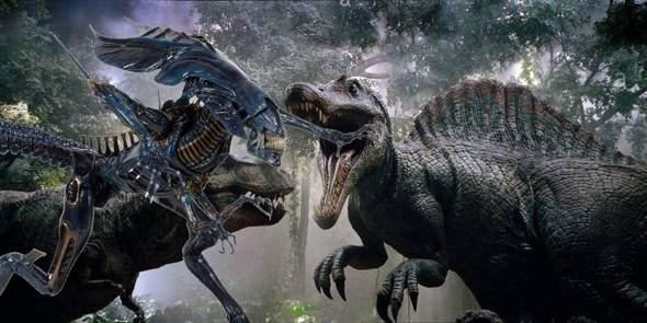 InGen Spinosaurus VS Xenomorph Queen?