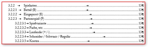 Inhaltsverzeichnis - (Word, Office, Überschrift)