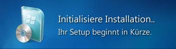 Initialisierungs-Nachricht - (PC, Internet, Download)