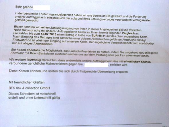 Inkasso Brief Bezahlen Oder Nicht Geld Unternehmen Forderung