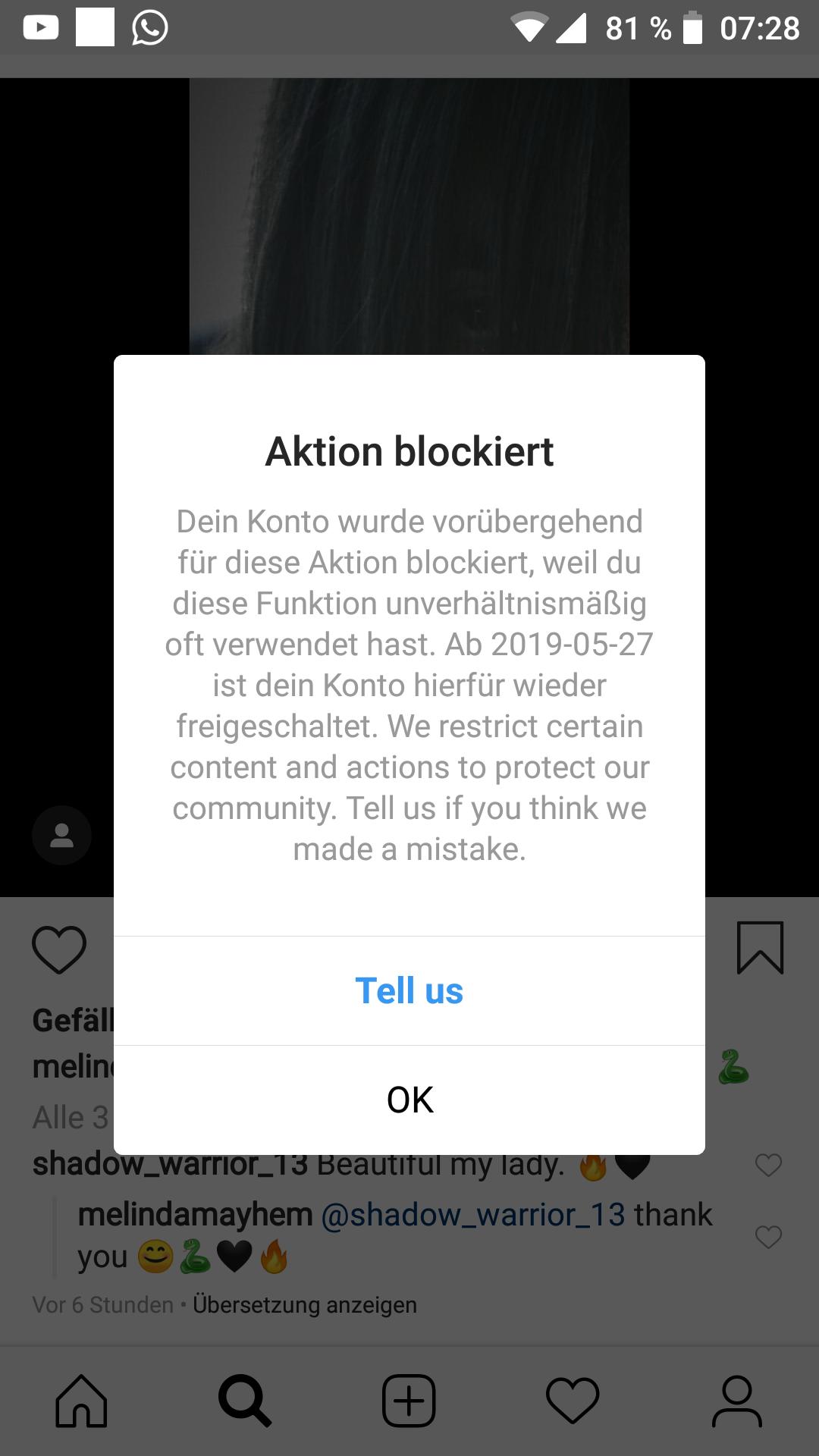 Wurde Ich Bei Instagram Blockiert
