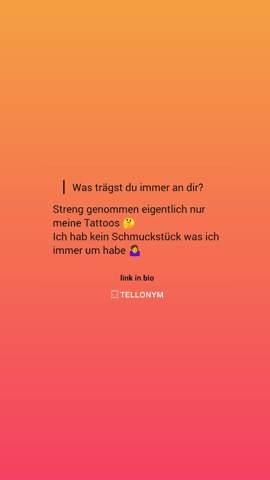 - (Instagram, Tellonym)