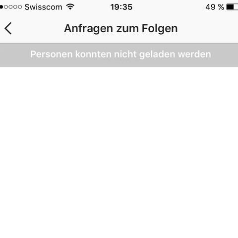 Instagram- kann niemanden mehr annehmen oder ablehnen- Hilfe!?!?
