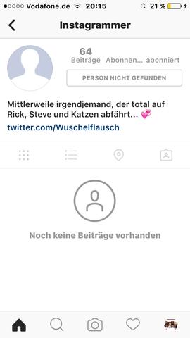 So sieht es jetzt aus, wenn ich auf den Account gehe... - (instagram, löschen, Account)
