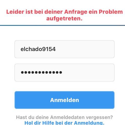 Leider Ist Bei Deiner Anfrage Ein Problem Aufgetreten Instagram