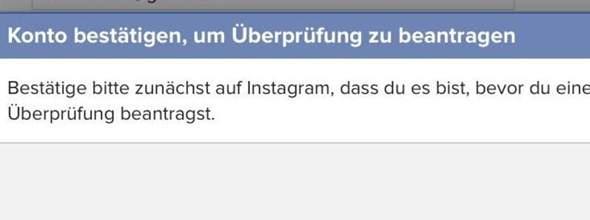 Instagram Account Deaktiviert