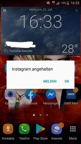 Instagram Problem Melden
