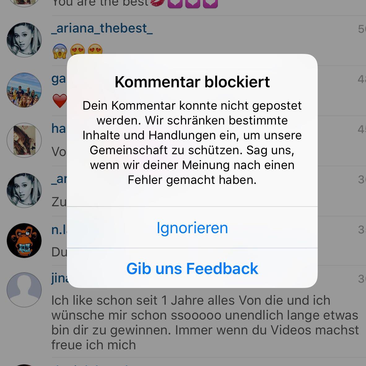 Instagram Spam Nachrichten
