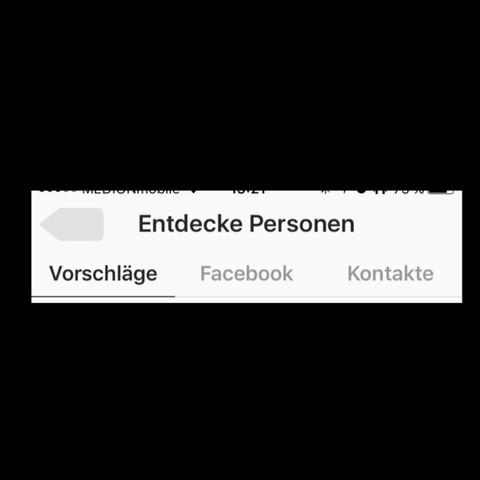 Bei Vorschläge aufgelistet bei Kontakte nicht - (Handy, Smartphone, Instagram)