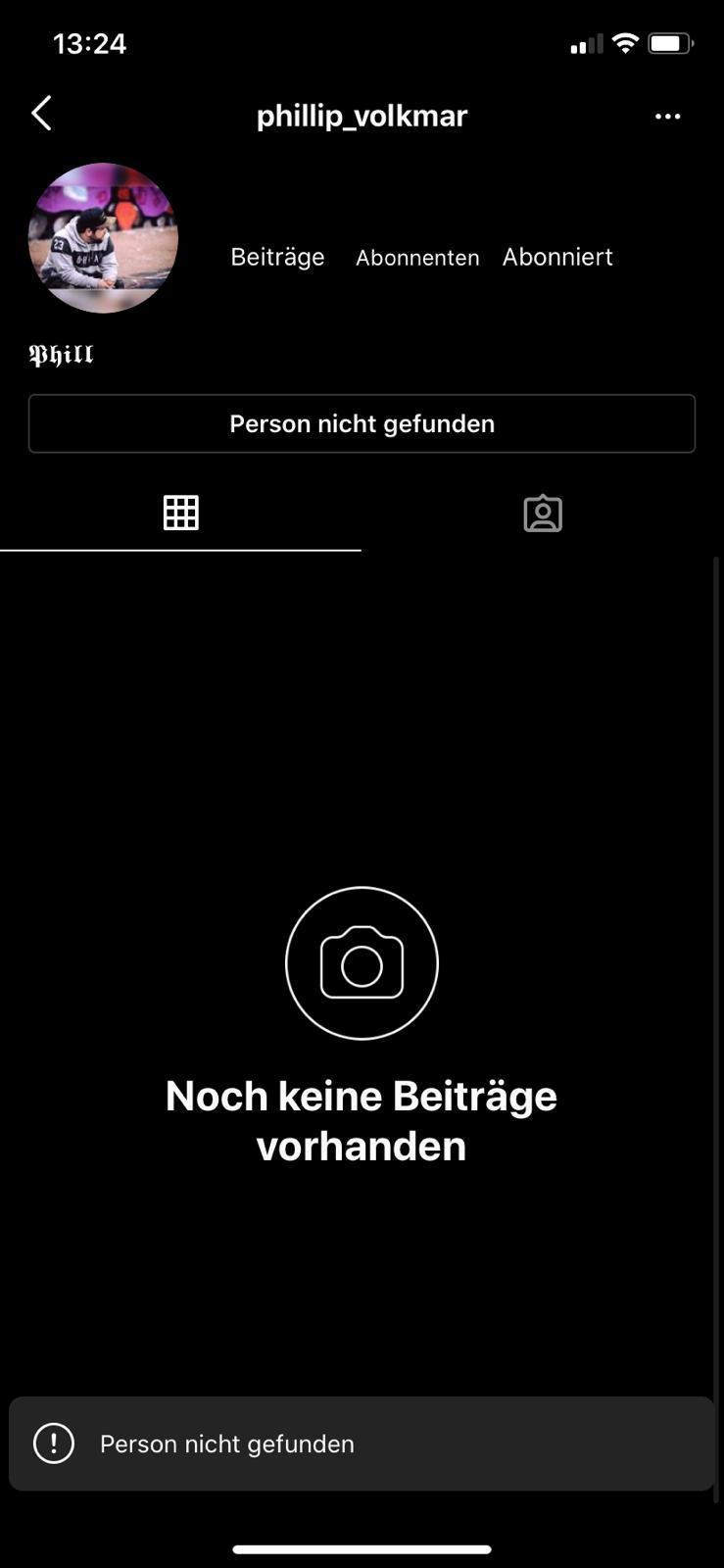 Instagram Profil von jetz auf gleich nicht mehr da