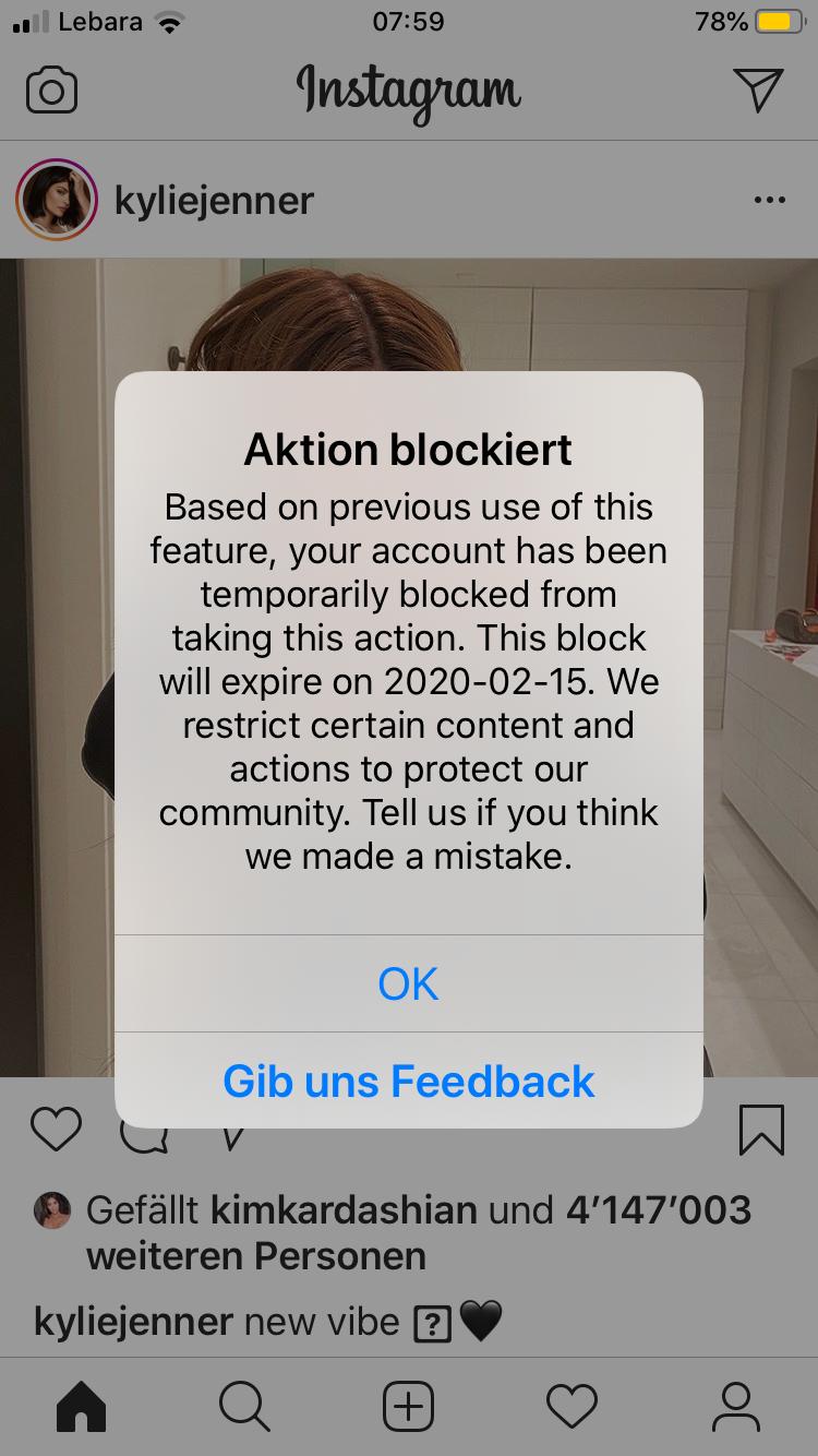 Instagram blockierung aufheben upammebee: uninophpe: Blockierte