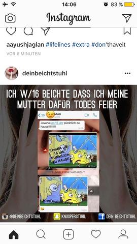 Von insta  - (instagram, soziale-Netzwerke, Deutsche Sprache)