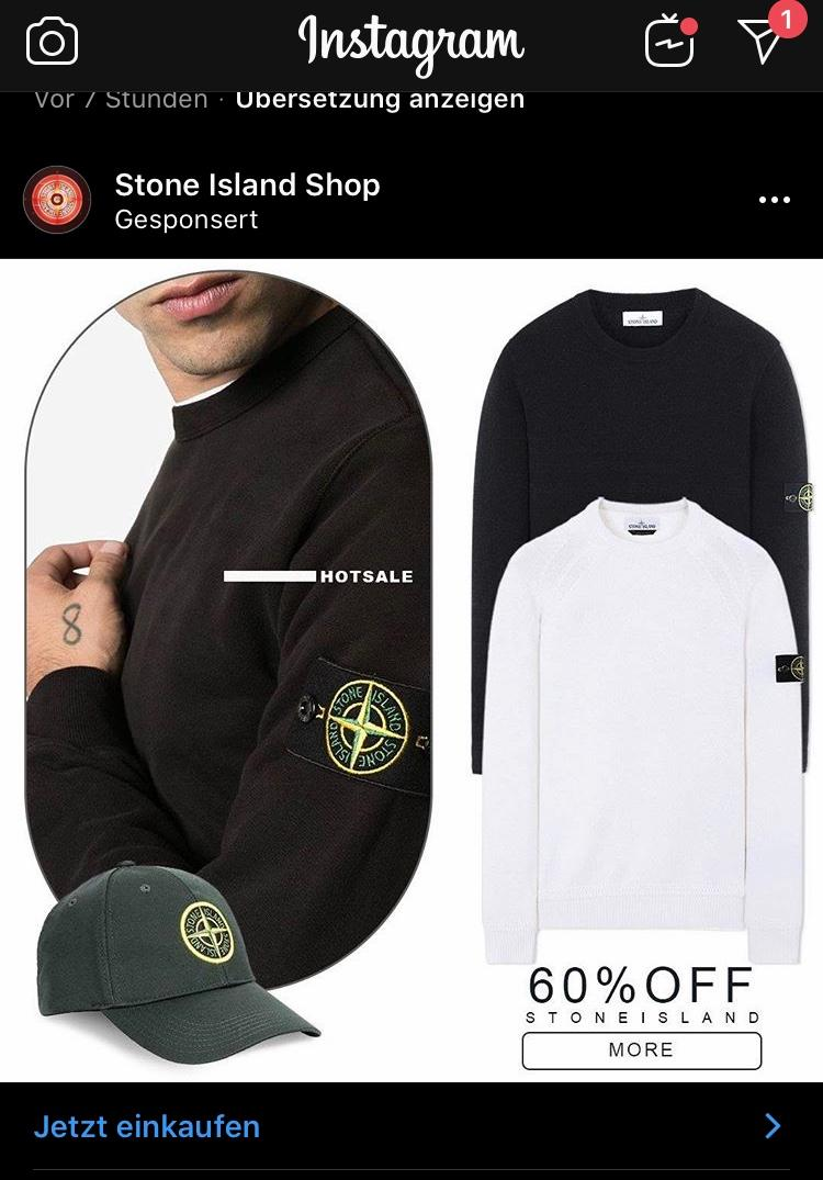 instagram stone island online shop fake? (mode)