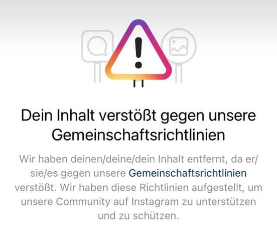 Instagram warnung ohne grund?