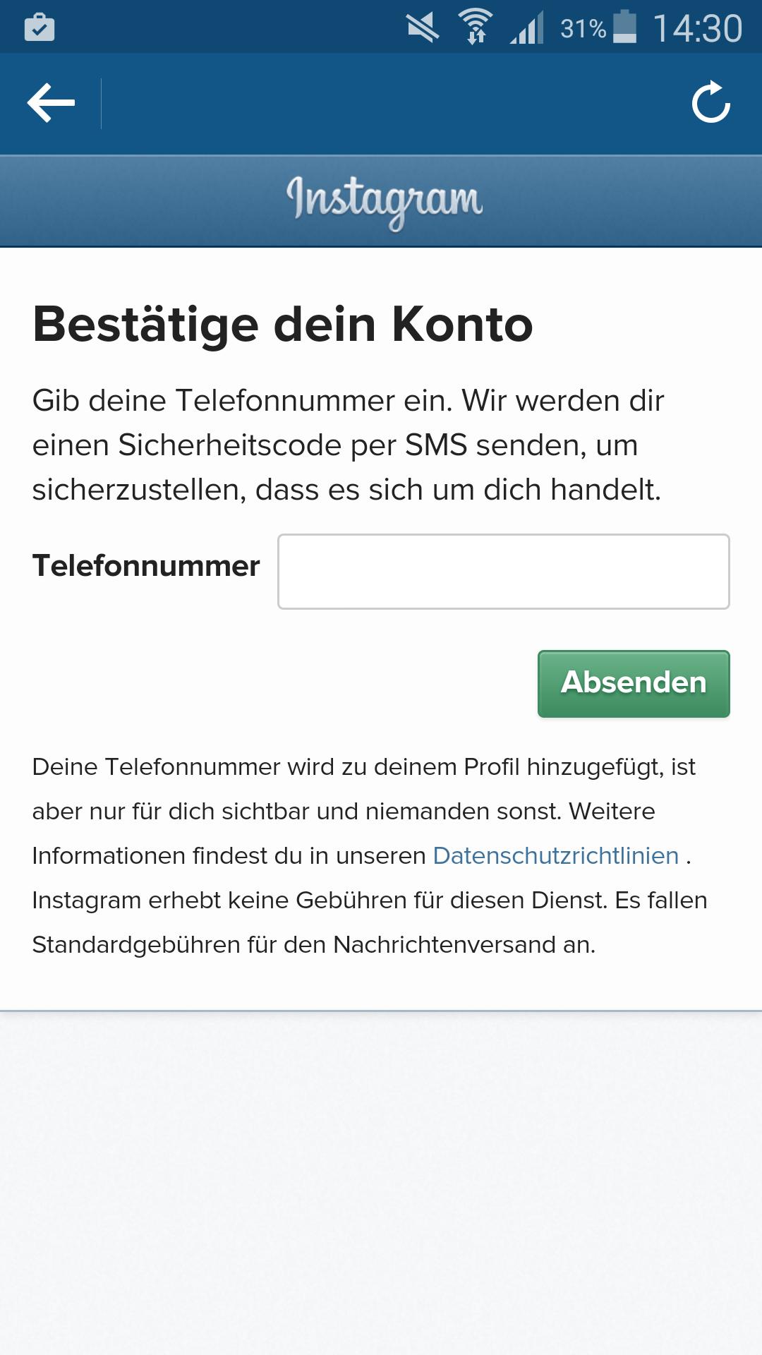 Instagram Telefonnummer Löschen