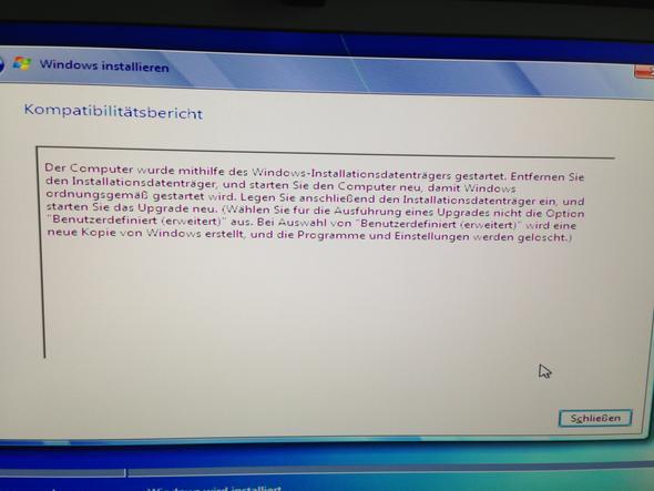 Fehlermeldung - (Windows 7, Fehlermeldung, Installation)