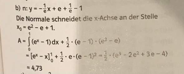 Integral Grenzen E funktion?
