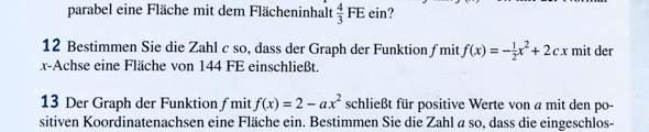 Integrale (Zahl bestimmen/Flächeninhalt)?