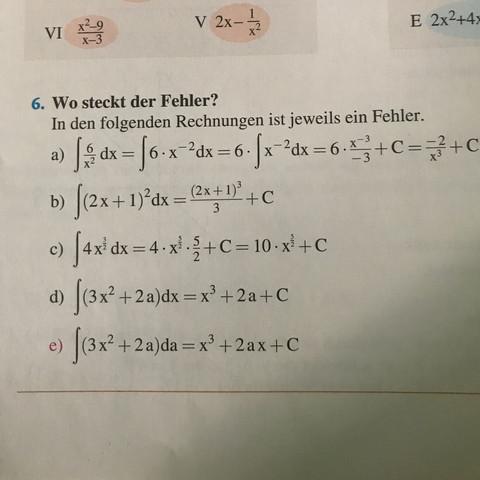 Aufgabe 6 - (Schule, Mathe, Fehler)