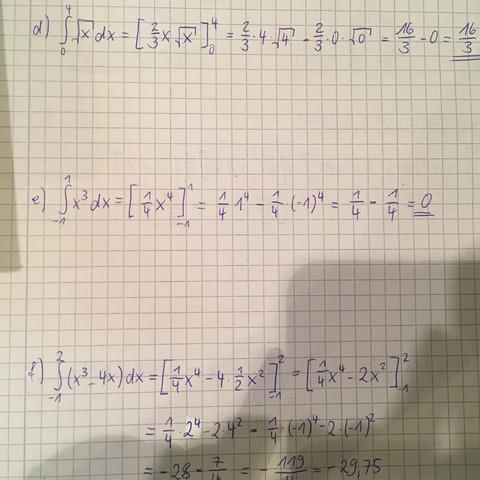 Aufgaben  - (Mathe, Hausaufgaben, integralrechnung)