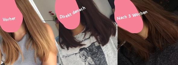 Vorher, direkt nach dem Friseurbesuch, nach 3 Wochen - (Haare, Hausmittel, Tönung)