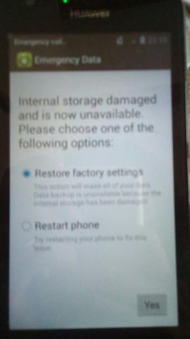 sd karte beschädigt huawei interner Speicher beschädigt Huawei Ascend Y550? (Handy