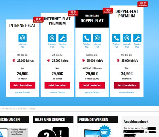 Unsere Verfügbarkeit - (Internet, Router, Telekom)