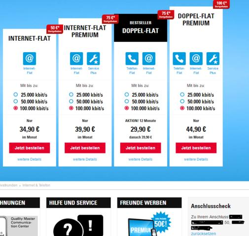 Die Verfügbarkeite von unseren Nachbarn - (Internet, Router, Telekom)