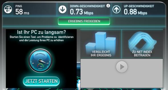 Speedtest 1.1 - (Computer, PC, Internet)