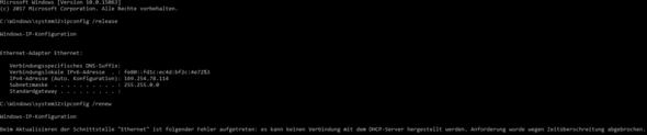 ipconfig /release u. ipconfig /renew - (Computer, PC, Internet)