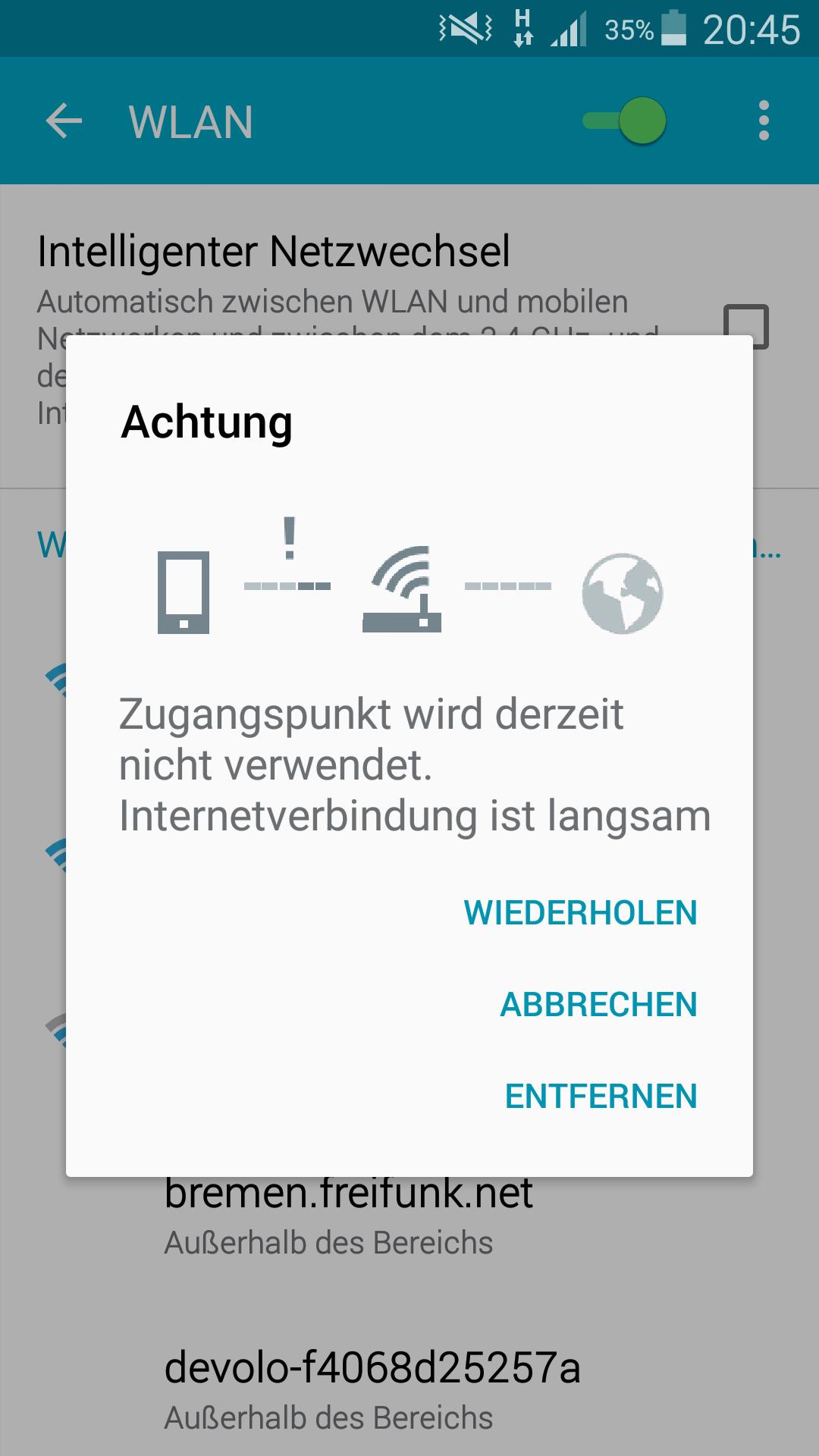 Internet: Zugangspunkt wird derzeit nicht verwendet. Was tun ...
