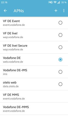 Apn's - (Technik, Vodafone)