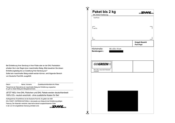 Internetmarke beschriften (Vorlage) (Paket, DHL, Marke)