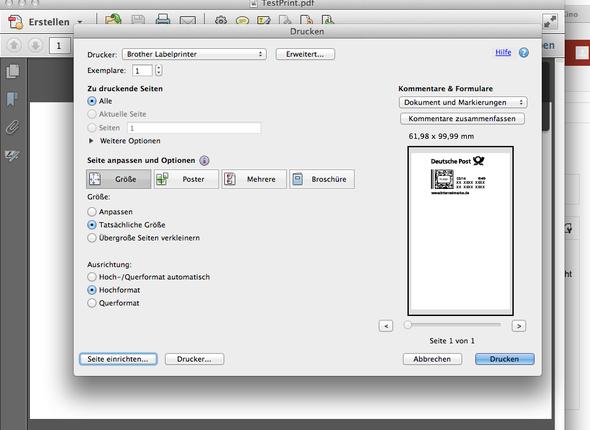 (Acrobat Pro) - (Mac, Drucker, Etikette)
