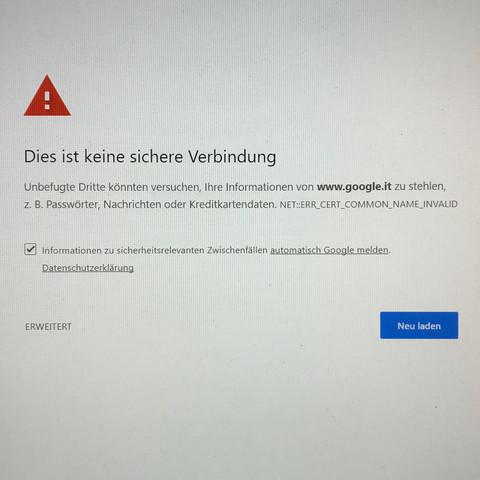 So sieht eine Fehlermeldung aus - (Virus, Internetverbindung, Kaspersky)