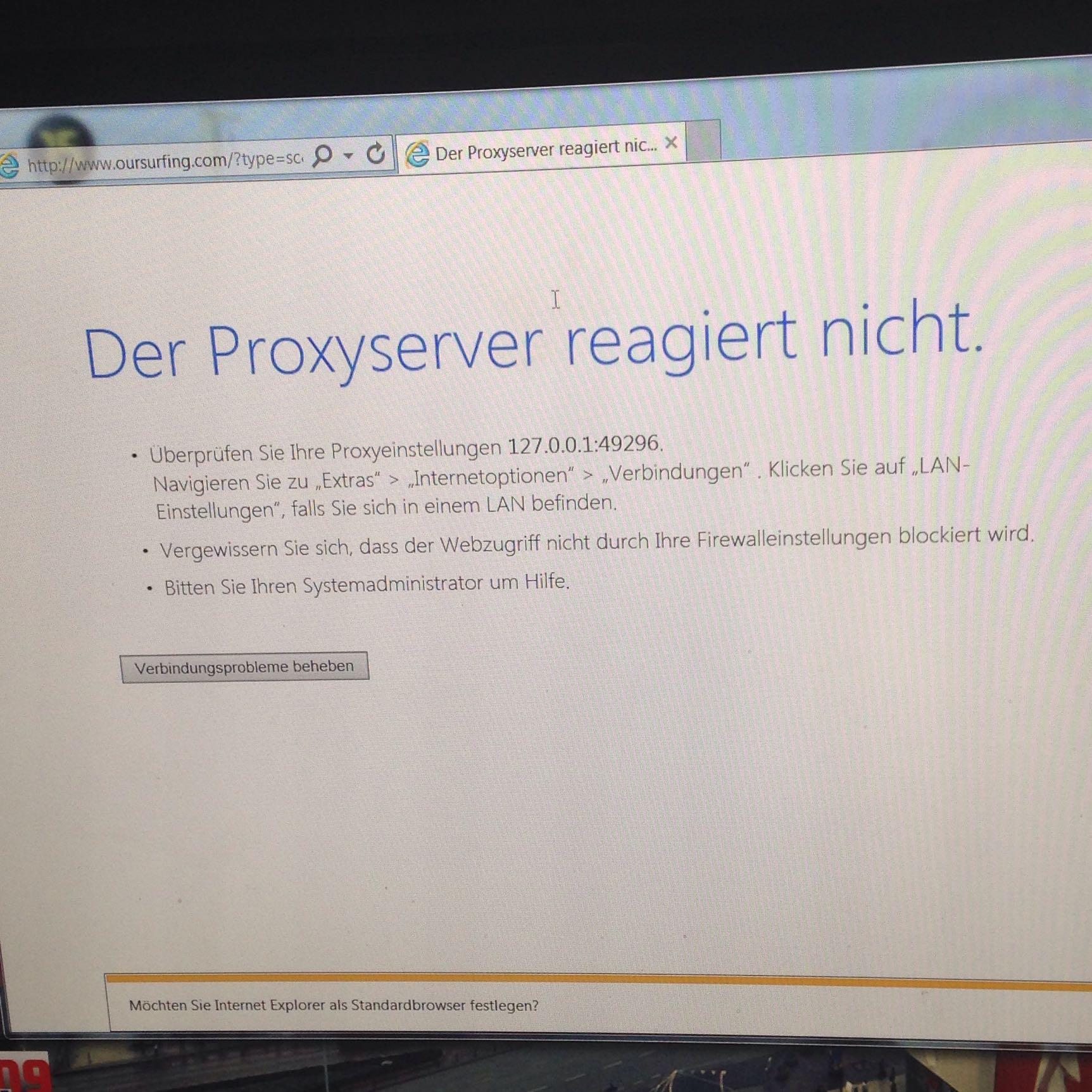 Internetprobleme! Proxyserver Reagiert Nicht? (Windows