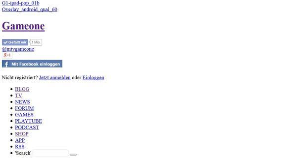 Beispiel GameOne Seite - (Internetseite, Virus, Webseite)