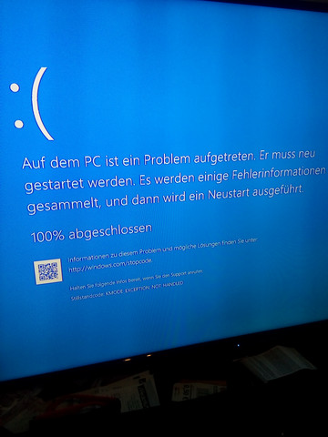Fehlermeldung - (Windows 10, Internetverbindung, festplatte extern)