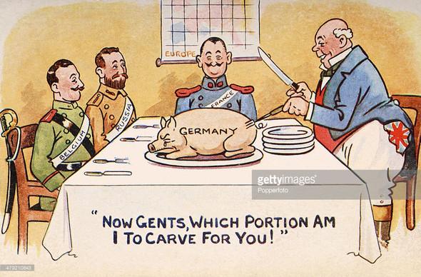 Interpretation Karikatur Now Gents Which Portion Am I To Carve For