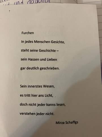 Interpretation Schreiben Gefühle Leben Deutsch Gedicht