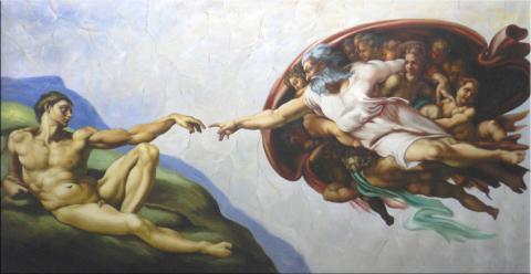 Interpretation Von Der Erschaffung Adams Religion Kunst