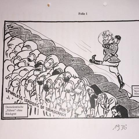 Interpretationen Für Adolf Hitler Karikatur Geschichte Deutung