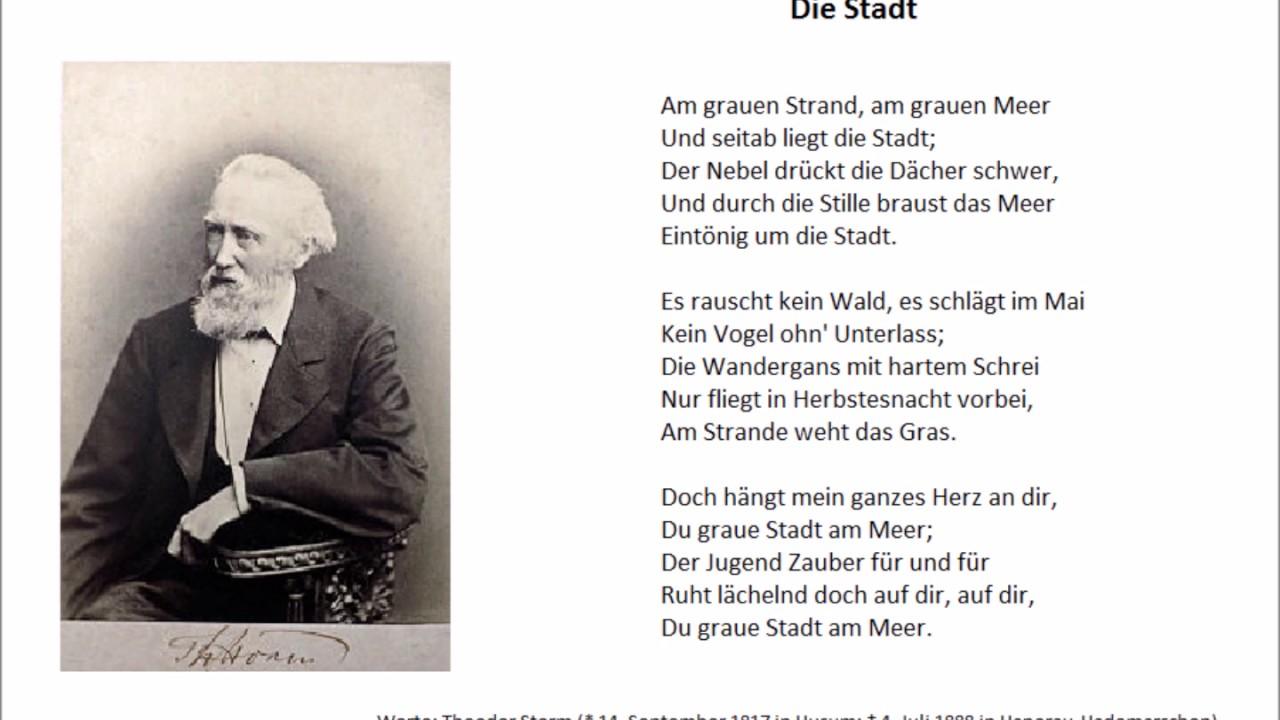 Inversion Und Ellipse Bei Dem Gedicht Die Stadt Von Theodor
