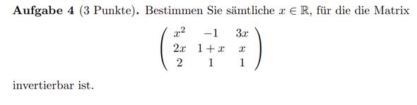 Invertierbarkeit von Matrix?