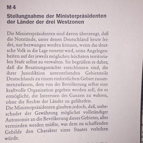 Das sind die Infos die ich zur Verfügung habe. - (Geschichte, Deutschland 1949, Bizone)