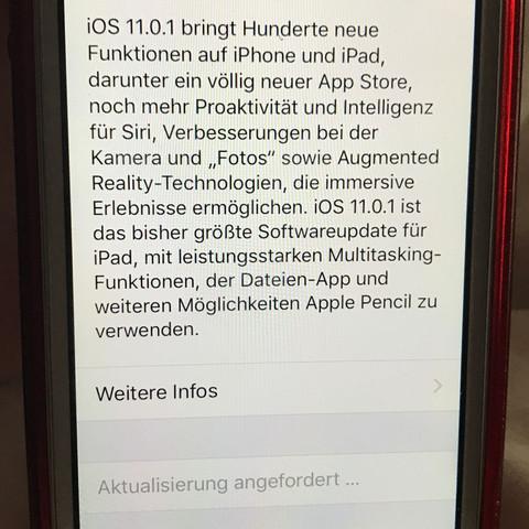 So steht es schon seit mehreren Stunden da  - (iPhone, downloaden, IOS 11)